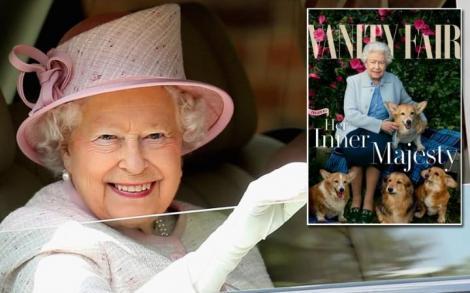 Regina Elisabeta a II-a, pe coperta unei reviste mondene, alături de căţeluşii ei!