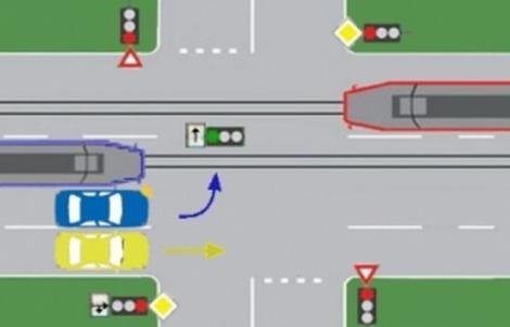 Care dintre vehicule îşi pot continuarea deplasarea în intersecţie? Nouă din zece oameni greşesc!