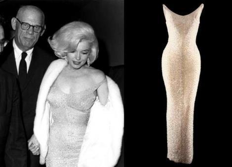 """Uriaș! """"Happy birthday, Mr. President!"""" Cât valorează în 2016 rochia pe care Marilyn Monroe a purtat-o când i-a cântat lui Kennedy"""