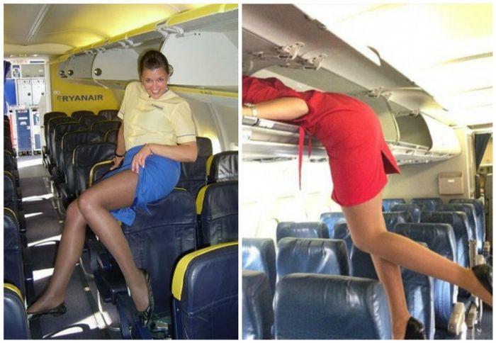 Galerie FOTO: Ce fac STEWARDESELE când rămân singure în avion! Imaginile sunt INTERZISE MINORILOR
