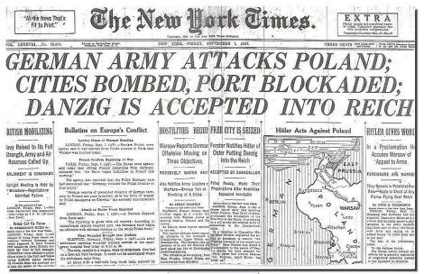 Cele mai importante evenimente ale lunii septembrie. Germania a atacat Polonia, provocând Al Doilea Război Mondial