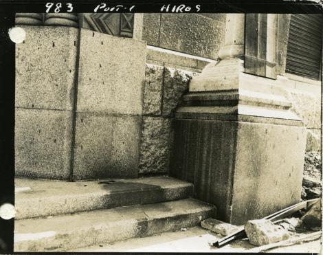 """Privește bine! Ceea ce vezi este """"umbra"""" unei femei! 5.000 de grade au pulverizat-o pur și simplu. A fost măturată, la propriu! Hiroshima, august 1945"""