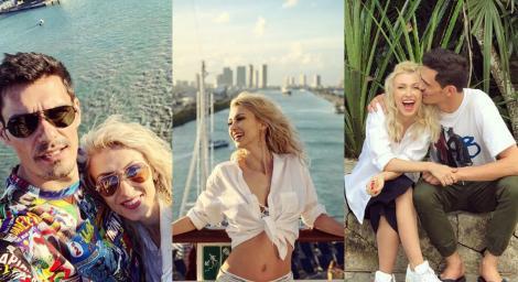 """Andreea Bălan, jurata de la """"Te cunosc de undeva"""", și soțul său se distrează la maximum peste Ocean.Imagini HOT cu artista"""