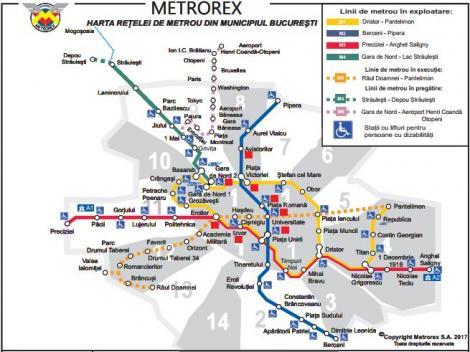 Hartă metrou 1953 vs. hartă metrou 2018. Cum ar fi trebuit să arate traseul subteran al Capitalei