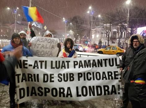 """PROTESTELE DE LA 20 IANUARIE. Românii plecați la muncă peste hotare s-au întors de urgență în țară! Protestează alături de ceilalți peste 30.000 de manifestanți: """"Ne-ați luat pământul țării de sub picioare!"""""""