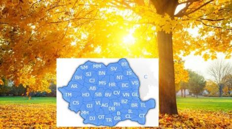 Meteo 16 octombrie. Cum va fi vremea marți în România