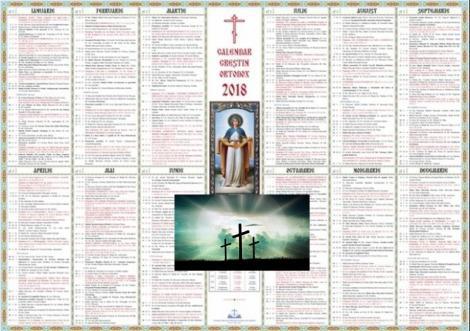 Calendar ortodox 2018. Ce sărbători cu cruce neagră sunt în noiembrie
