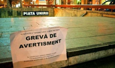 Ultima oră! Metrorex declanșează grevă de avertisment la metrou! Traficul din Capitală va fi paralizat!