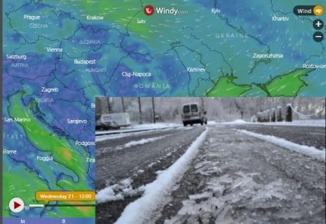 Vreme tot mai rea! Alertă meteo cod galben de polei în 11 judete! Harta zonelor afectate