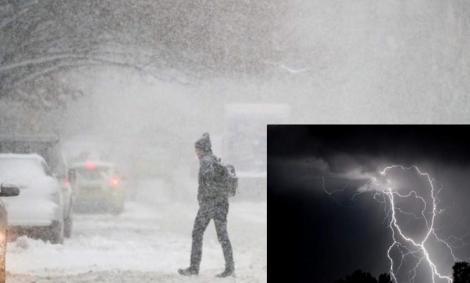 Vine urgia! Lapoviță, ninsori și furtuni înghețate în următoarele ore