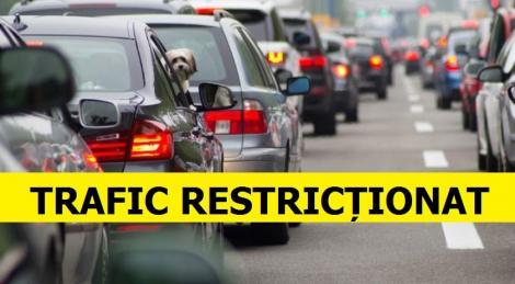 Atenție, șoferi! Traficul va fi azi restricționat! Care sunt rutele ocolitoare