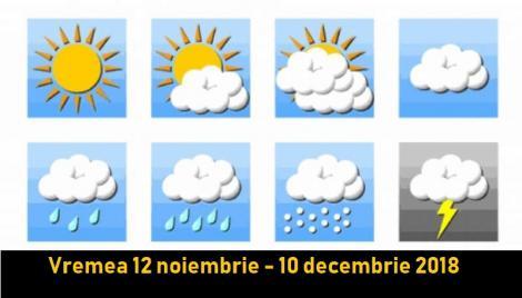Prognoza meteo pe 4 săptămâni. Vremea 12 noiembrie - 10 decembrie 2018