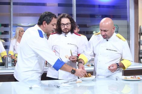 Chef Bontea și Chef Scărlătescu au intrat, din nou, la duel! Concurenții vor găti cheescake