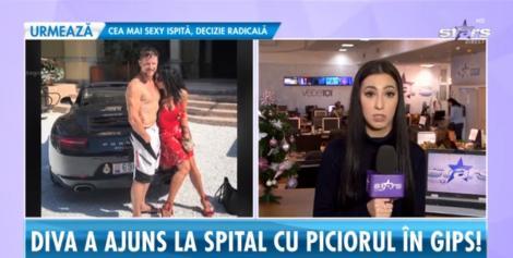 Mihaela Rădulescu a ajuns la spital, cu piciorul rupt, din cauza fostului soţ. Bărbatul a călcat-o cu maşina, după un scandal monstru