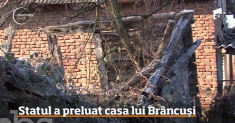 """Trei bârne putrezite şi un perete din lemn mai mult prăbuşit- așa a ajuns casa lui Constantin Brâncuși. """"Ne vom spăla ruşinea pentru tot ce s-a întâmplat"""""""