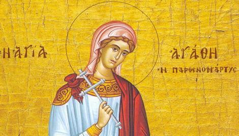 Calendar ortodox, 5 februarie. Paraclisul Sfintei Mucenițe Agatha vindecă femeile bolnave de cancer la sân