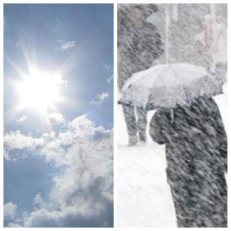 Prognoza METEO 17 martie| VREME la poli opuși: soare în București, ploi, ninsori, polei în alte zone din România