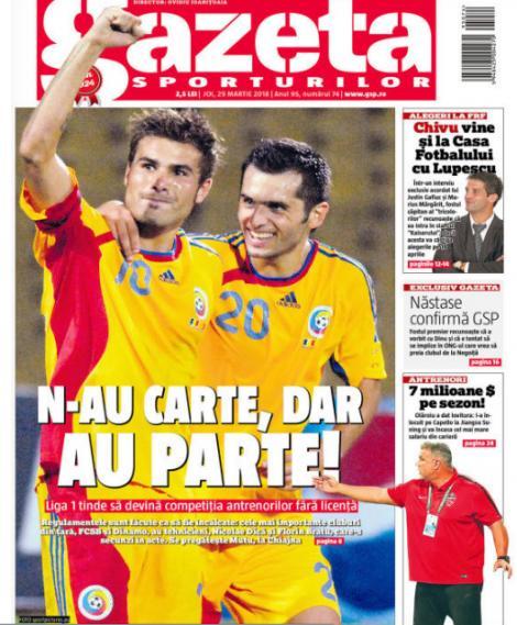 Revista presei sportive, 29.03.2018; Cristi Chivu, la Casa Fotbalului; Lewandowski pleacă de la Bayern; joacă Messi cu Roma în Ligă ?