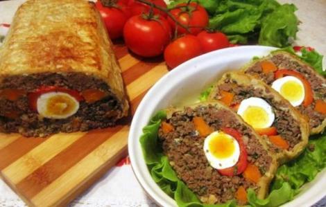 Minunăție culinară pentru masa de Paște! Cum faci cel mai bun drob de curcan în aluat de foietaj!