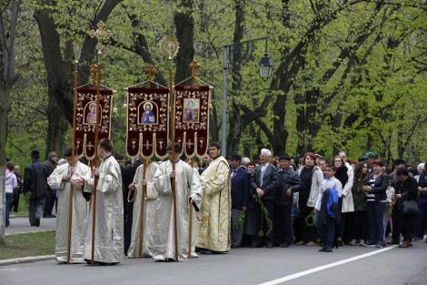 Procesiune ortodoxă de Florii, astăzi, în Capitală. Restricţii de trafic începând cu 15.30