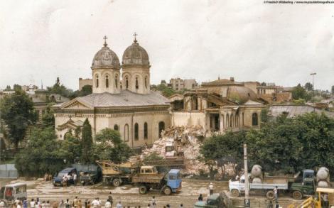"""După cutremur, Biserica Sfânta Vineri fusese pusă în niște proptele, apoi se dărâmase pe de-a-ntregul: """"Cu bănuțul văduvei s-a refăcut biserica asta!"""" A fost reconstruită din temelii, iar comuniștii su ras-o de pe harta Bucureștiului"""