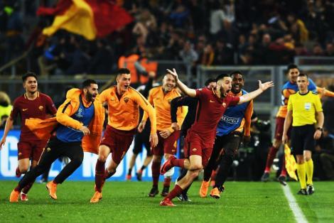 ROMAntada! AS Roma - Barcelona 3-0, iar italienii intră în istoria Ligii Campionilor cu o calificare miracol! City, pusă din nou la respect de Liverpool