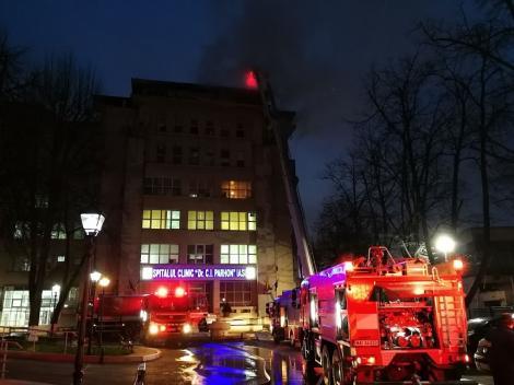 Incendiu puternic la Spitalul de boli cardiovasculare Iaşi! Zeci de pacienți au fost evacuați, iar focul a fost stins după șase ore de intervenție