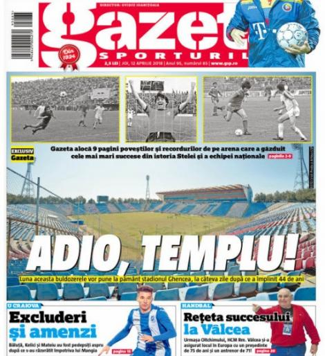 """Revista presei sportive, 12.04.2018: Fotbalul românesc se desparte de Templu; """"Jaful secolului"""" la Real - Juventus vs. penalty clar la Lucas"""