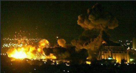 A început războiul. Primele imagini din timpul atacului devastator din Siria (FOTO-VIDEO)