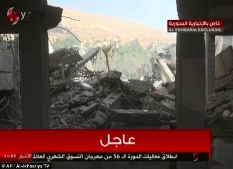 Război în Siria. Sirienii au făcut publice imagini cu ruinele atacurilor occidentale