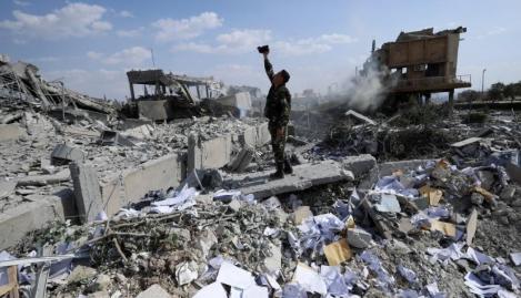 A început războiul. IMAGINILE DEZASTRULUI din SIRIA, în urma celor peste 100 de rachete lansate de americani (FOTO-VIDEO)