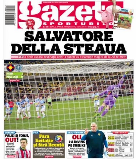 Revista presei sportive, 02.04.2018: Dinamo își dă afară două vedete aduse în iarnă; Buffon, impresionat de un jucător de la Real; Griezmann refuză United pentru Barcelona