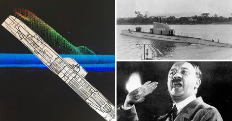 """Adolf Hitler nu s-a sinucis în celebrul buncăr din Berlin? A fost găsit submarinul cu care acesta ar fi fugit în America de Sud: """"Este într-o poziţie ciudată"""""""
