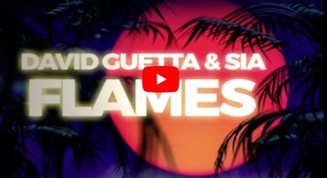 """Piesa pe care NU vrei să o ratezi. David Guetta şi Sia au scos un nou HIT. Tu ai ascultat """"Flames""""?"""