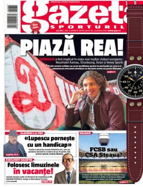 Revista presei sportive, 05.04.2018: FCSB sau Steaua, care adună mai mulți fani ?; Cristiano Ronaldo, în cărțile de istorie ale fotbalului
