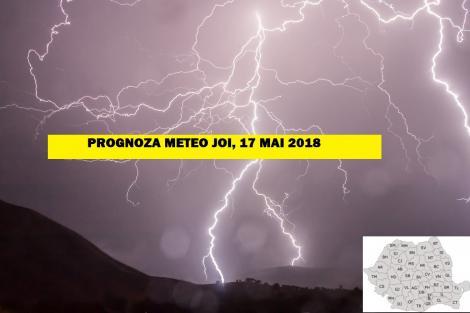 Vremea 17 mai. Prognoza meteo anunță furtuni, fulgere, vijelii masive