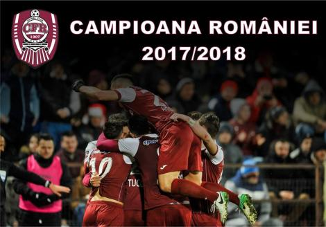 CFR Cluj e noua campioană a României! Elevii lui Dan Petrescu, campionii ediției 100 a Ligii 1 în anul centenarului!
