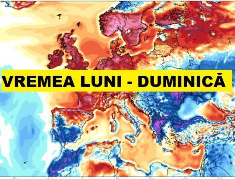 Vremea pe zile. Prognoza meteo de luni până duminică în România