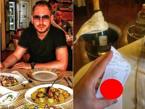 """(FOTO) Adevărul despre nota de plată a lui Andrei Versace! Cât a plătit """"regele fițelor"""" pentru o masă într-un restaurant de lux!"""