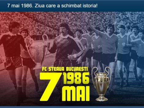 """7 MAI 1986 - 32 DE ANI DE LA SEVILLA! FCSB și CSA Steaua celebrează """"braț la braț"""" succesul cu Barcelona din 1986"""