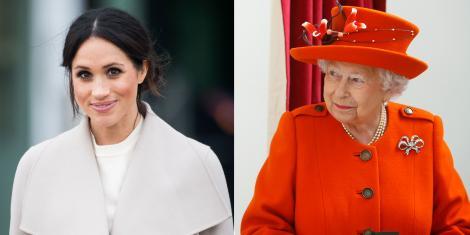 Regina Elisabeta a II-a, însoțită pentru prima dată doar de Meghan Markle la un evenimet oficial
