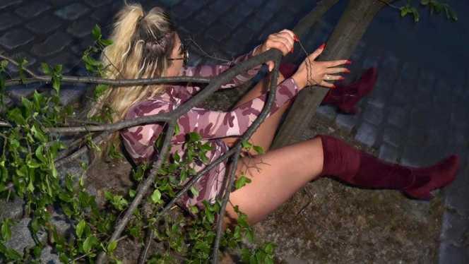 """Imagini ȘOCANTE! O cunoscută asistentă TV s-a ÎMBĂTAT și a CĂZUT în boscheți: """"Era atât de beată, încât nu mai știa ce face!"""""""