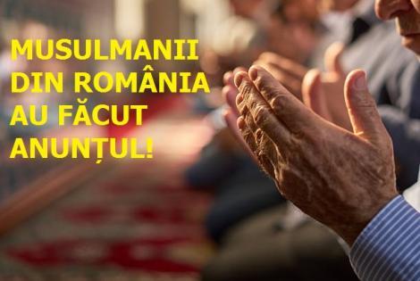 Veste importantă! Musulmanii din România au făcut anunțul la care nimeni nu se aștepta