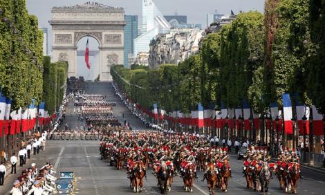 Ziua Națională a Franței 2018. Parada militară începe la ora 10.00, la Paris
