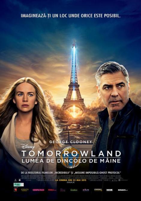 """Dacă e luni, Antena 1 te invită la film!  """"Tomorrowland - Lumea de dincolo de mâine"""", o aventură cinematografică misterioasă şi fascinantă, care îl are în rolul principal pe sexosul George Clooney"""