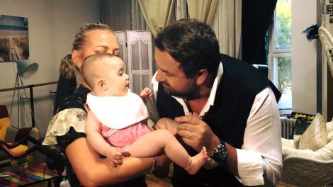 Video ADORABIL. Horia Brenciu, ipostaze emoţionante alături de Jessica, nepoţica Deliei. Cum o răsfaţă juratul de la X Factor pe micuţă