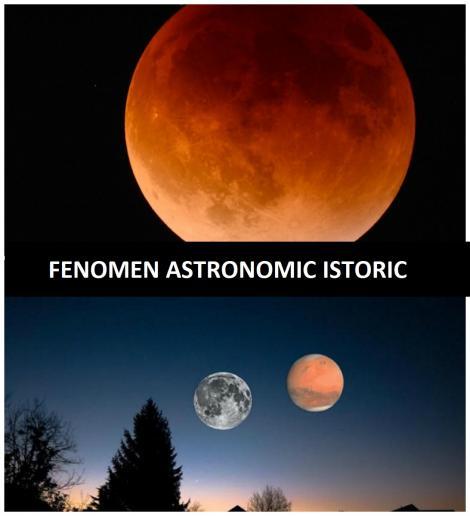 Incredibil! Un fenomen istoric se va petrece la câteva zile după cea mai lungă eclipsă de Lună! Nu s-a mai văzut așa ceva de 13 ani! Are legătură cu planeta Marte