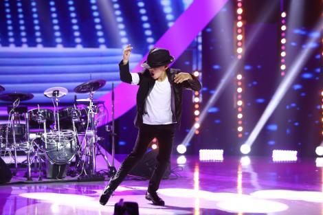 """DaviN, fiul lui Călin Geambașu, vine la """"Next Star"""" să bată la tobe și să danseze ca Michael Jackson"""