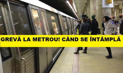 Grevă la metrou! Siguranța călătorilor este în mare pericol! Când se întâmplă