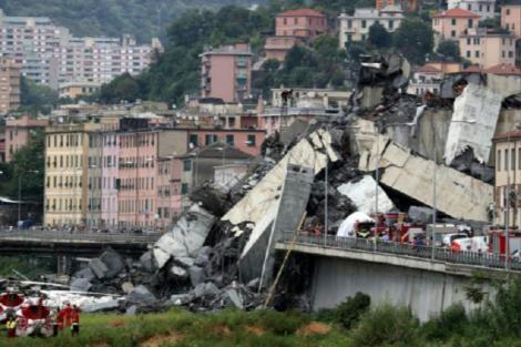 Un nou PERICOL în locul tragediei de la Genova! Intervențiile de îndepărtare a rămășițelor, întrerupte de URGENȚĂ